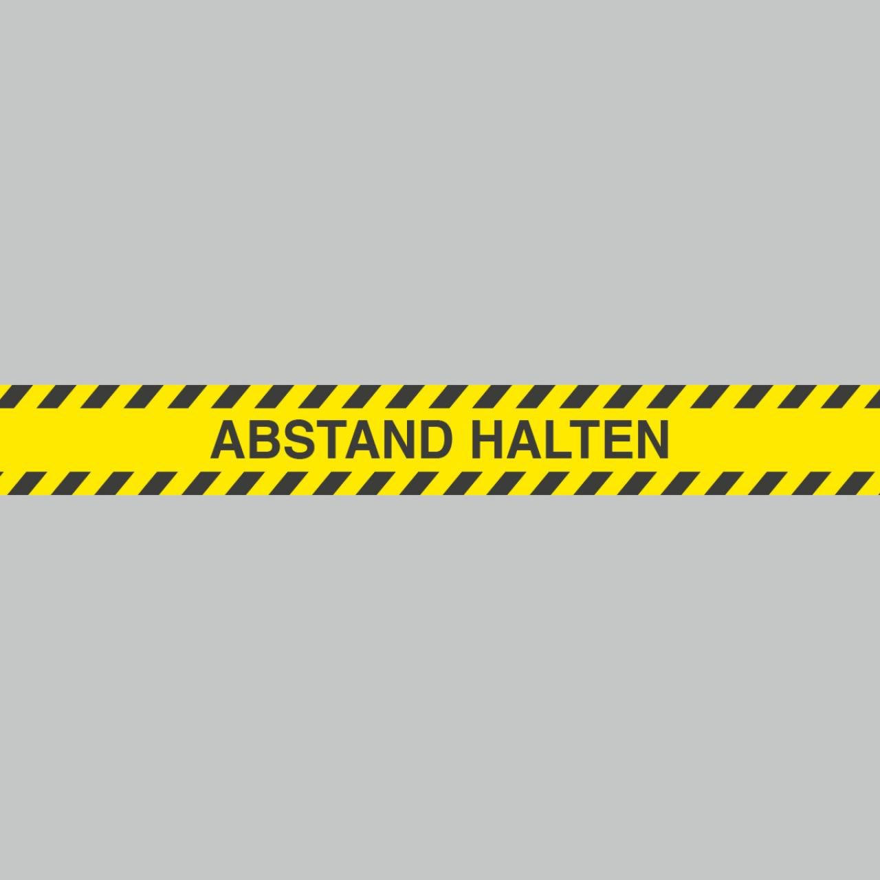 Fußbodenaufkleber schwarz-gelb, Streifen, 120x15cm – Abstand halten