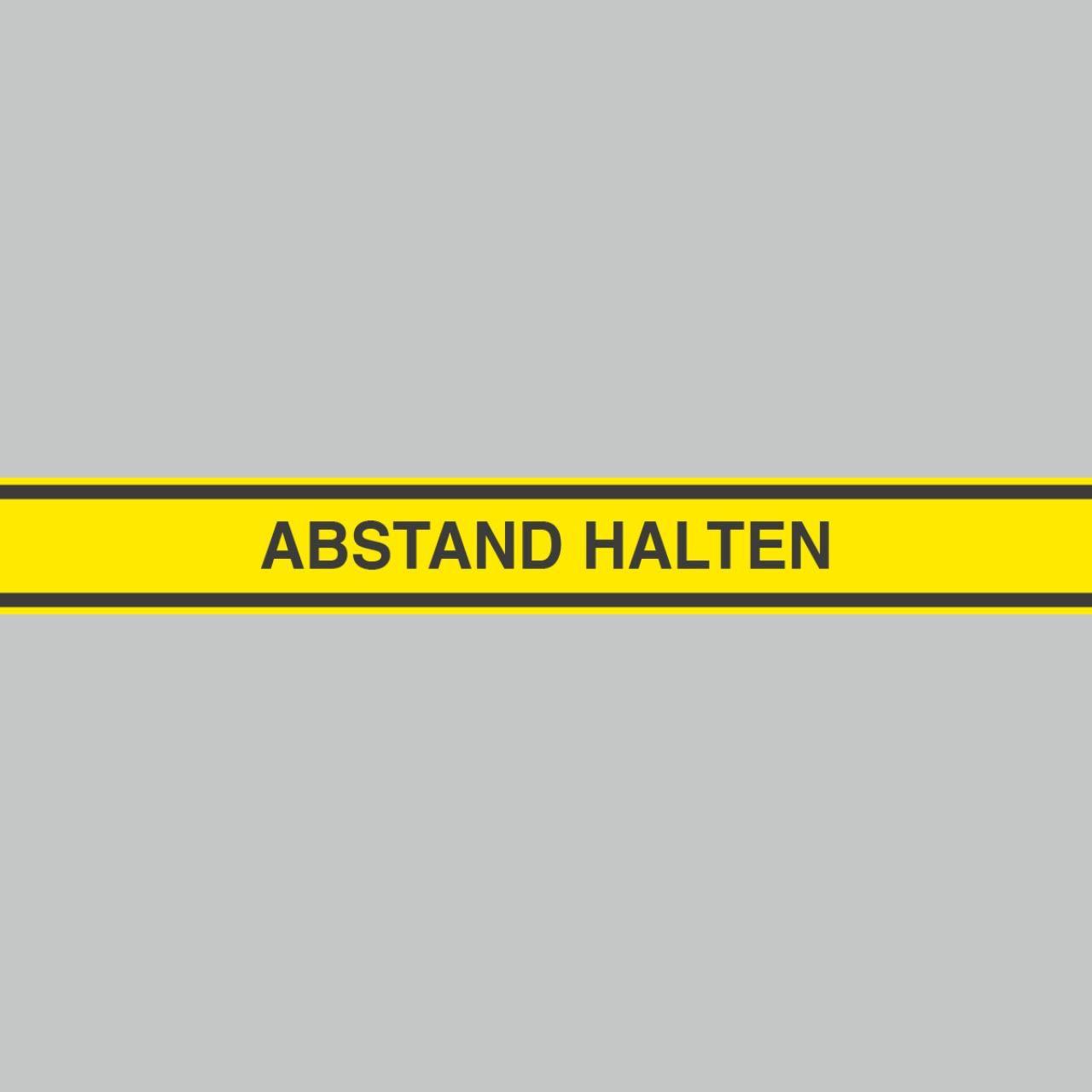Fußbodenaufkleber, schwarz-gelb, 120x15cm – Abstand halten