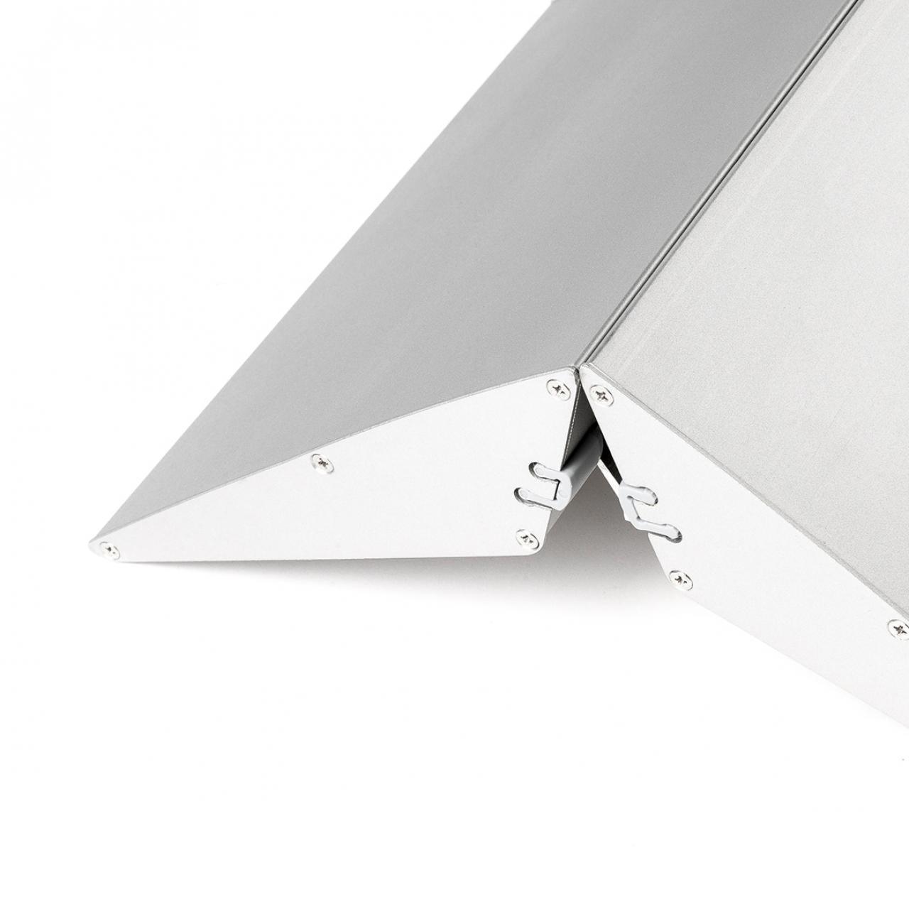 Aluminium-Standfuß silber für Acryl-Trennwand