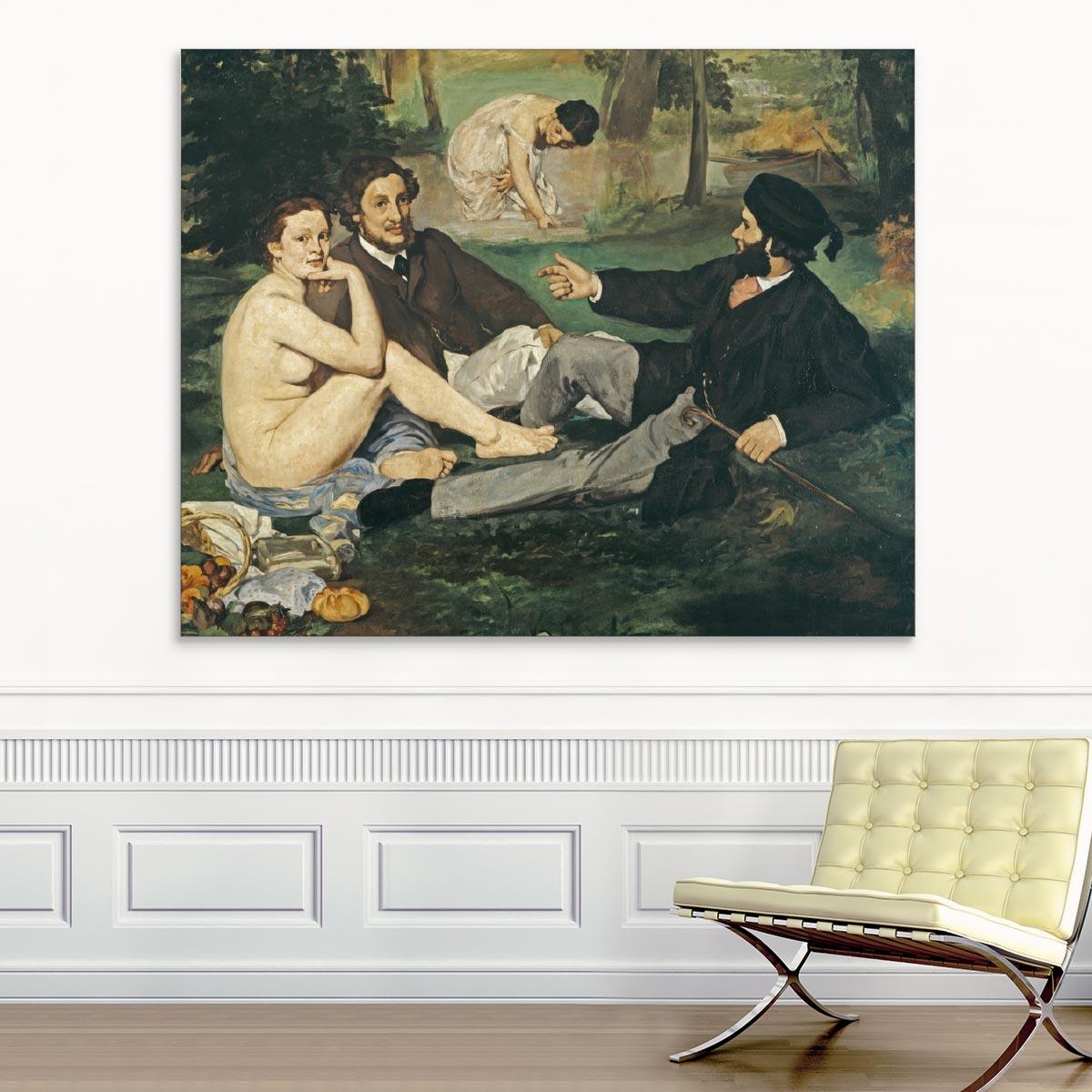 """Akustikbild """"Das Frühstück im Grünen"""", Edouard Manet"""