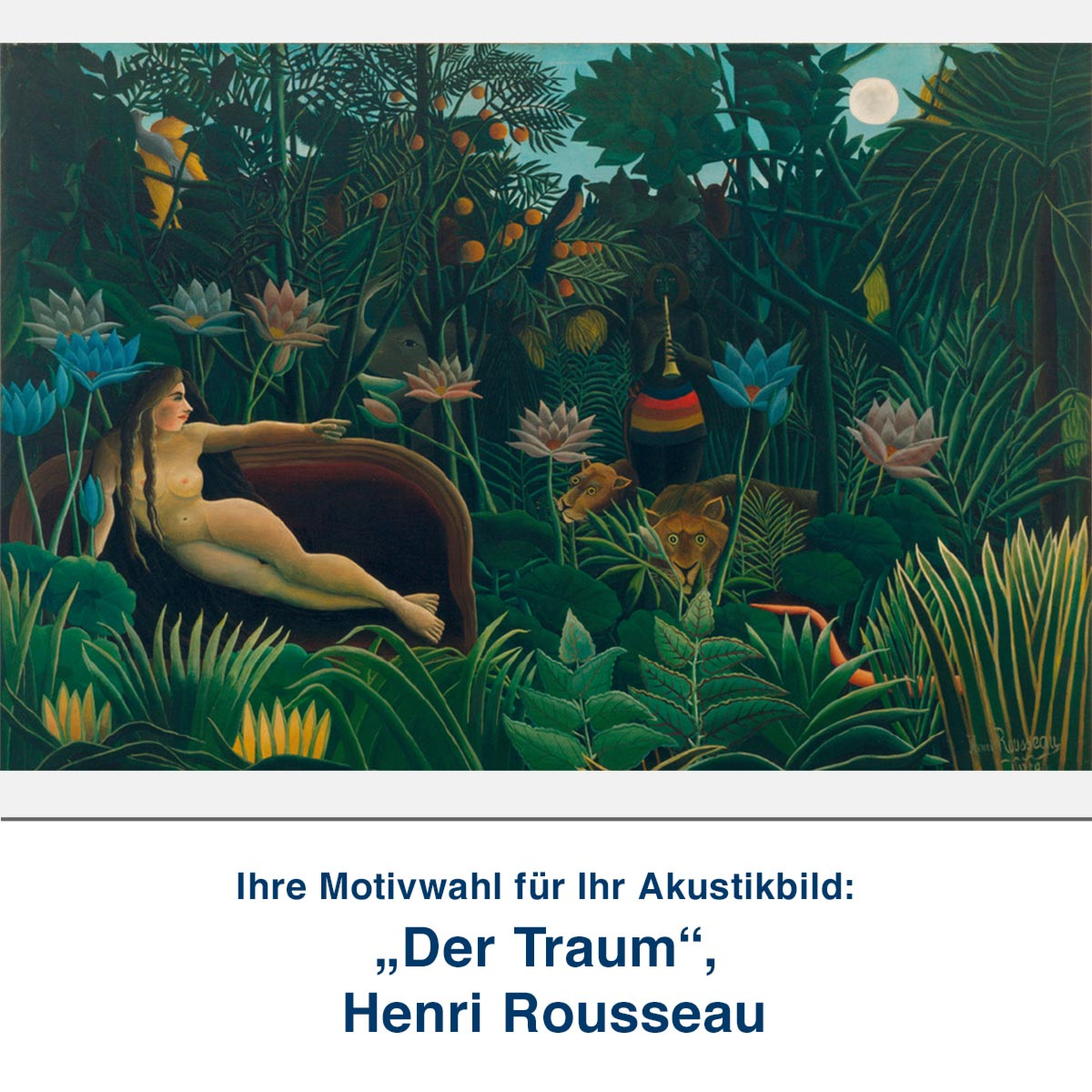 "Akustikbild ""Der Traum"", Henri Rousseau"