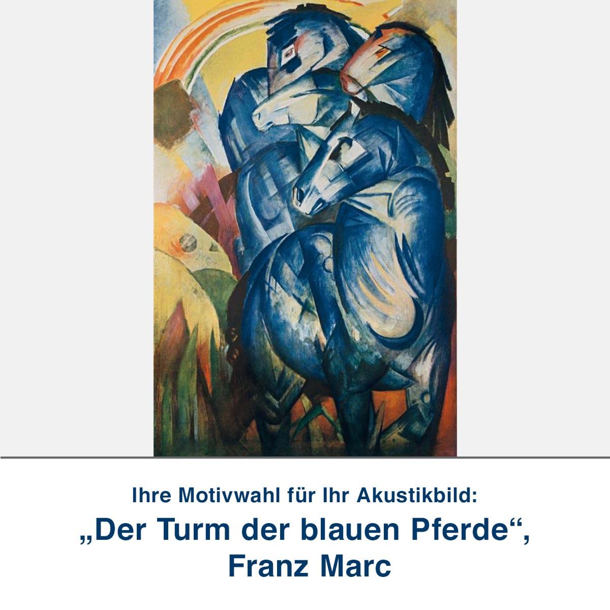 """Akustikbild """"Der Turm der blauen Pferde"""", Franz Marc"""