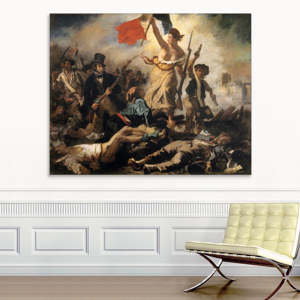 """Akustikbild """"Die Freiheit führt das Volk"""", Eugène Delacroix"""