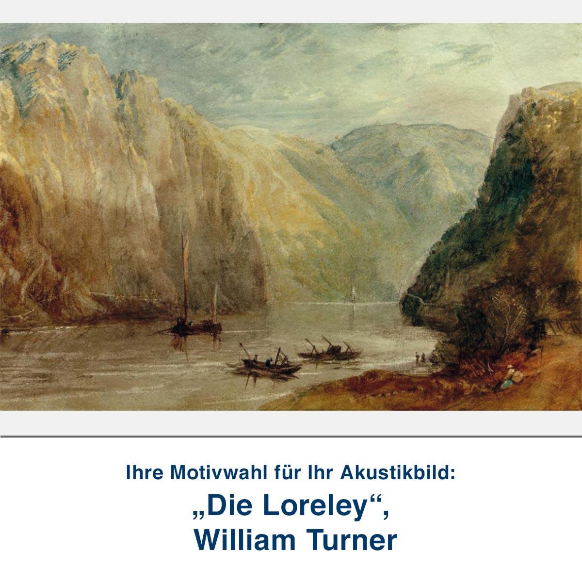 "Akustikbild ""Die Loreley"", William Turner"