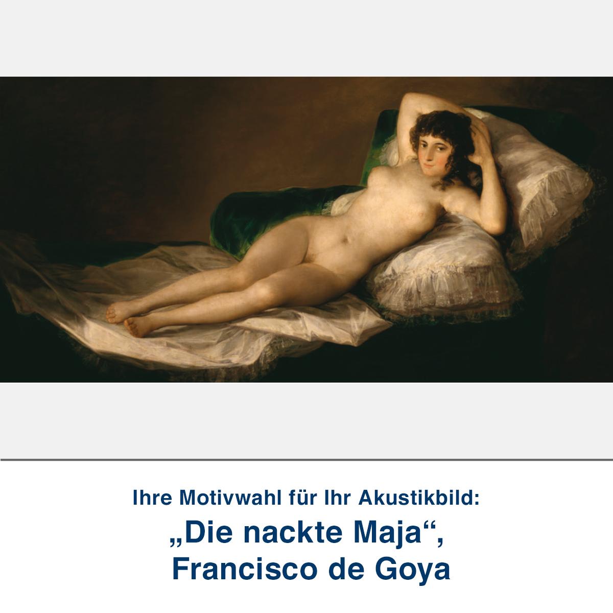"""Akustikbild """"Die nackte Maja"""", Francisco de Goya"""