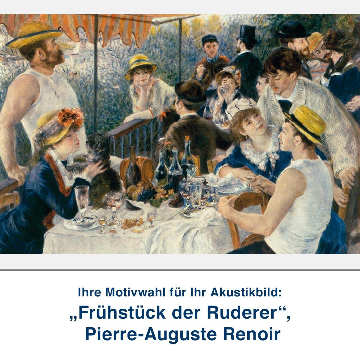 """Akustikbild """"Frühstück der Ruderer"""", Pierre-Auguste Renoir"""