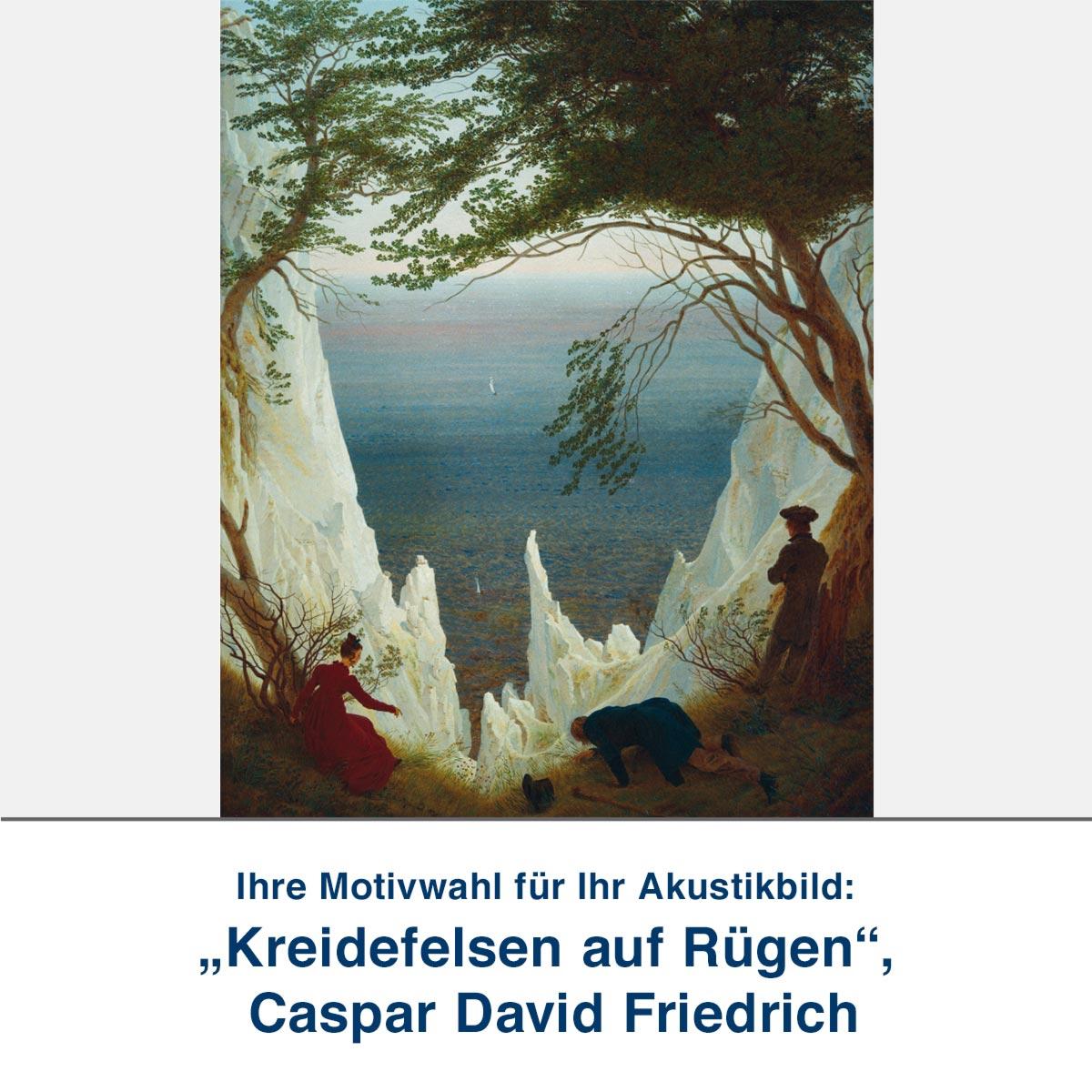"Akustikbild ""Kreidefelsen auf Rügen"", Caspar David Friedrich"