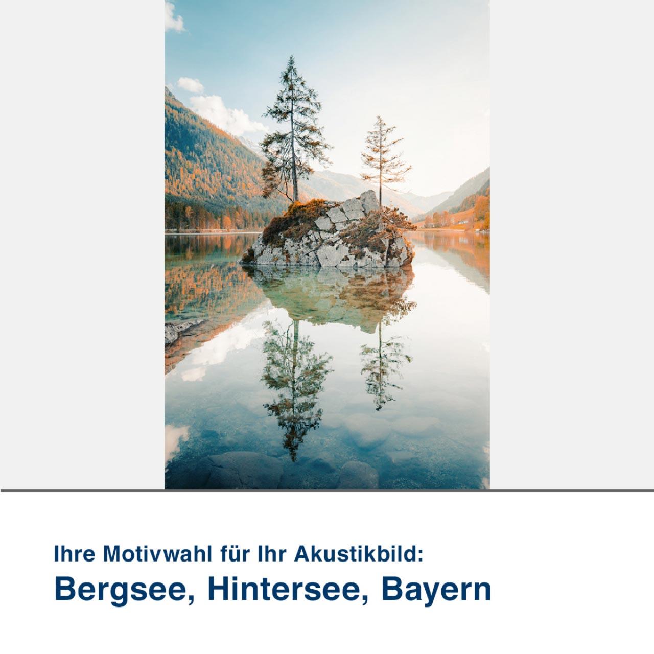 Akustikbild Motiv Bergsee, Hintersee, Bayern