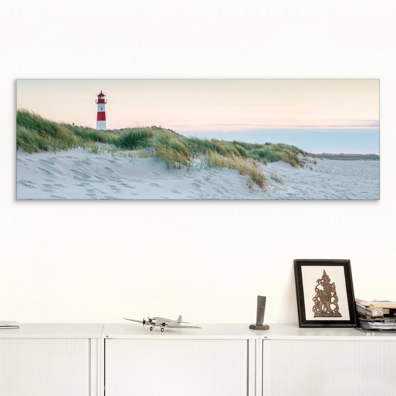 Akustikbild Strand, Leuchtturm auf Sylt