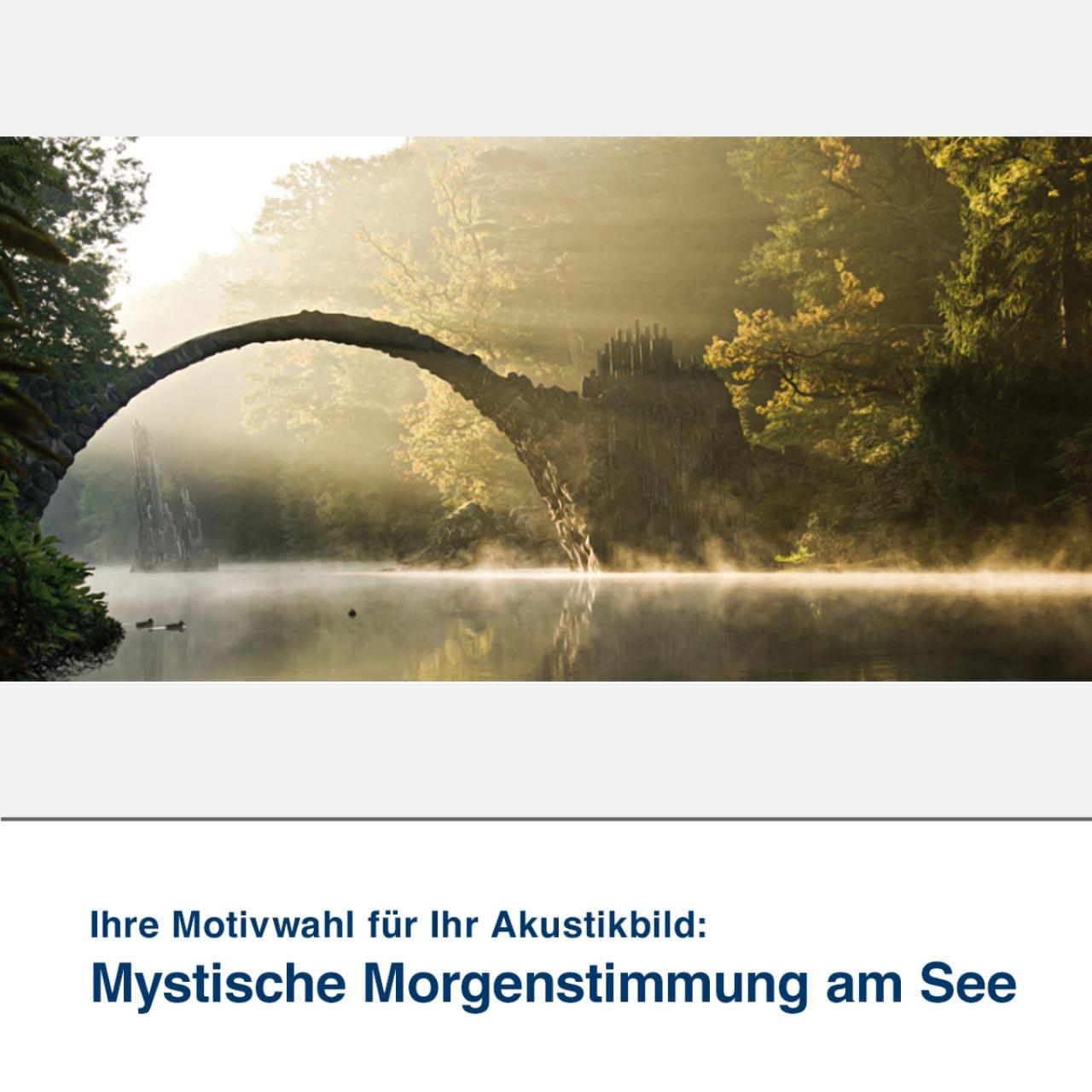 Akustikbild Mystische Morgenstimmung am See