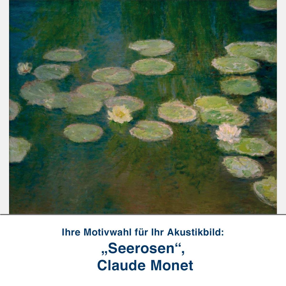 "Akustikbild ""Seerosen"", Claude Monet"