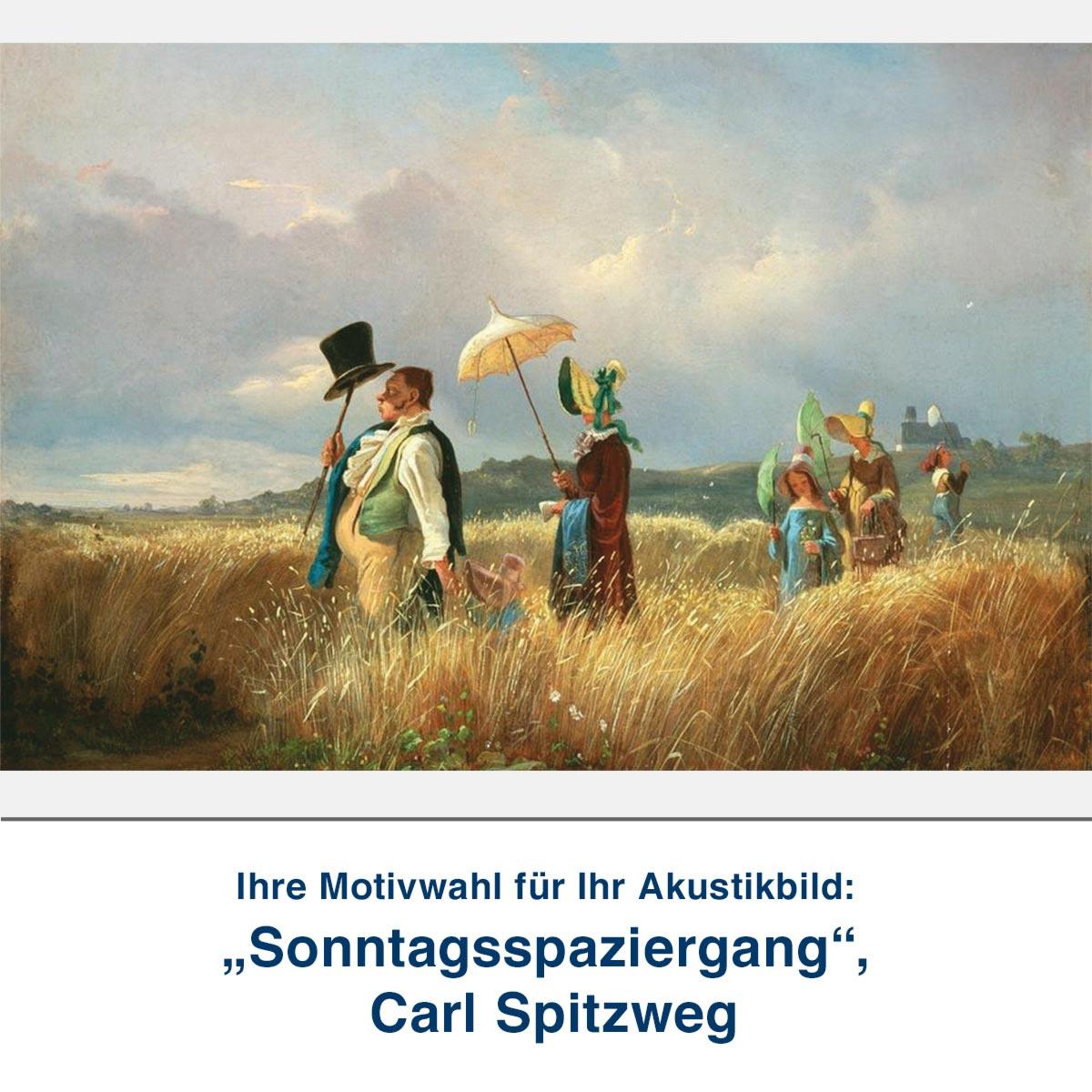 "Akustikbild ""Sonntagsspaziergang"", Carl Spitzweg"