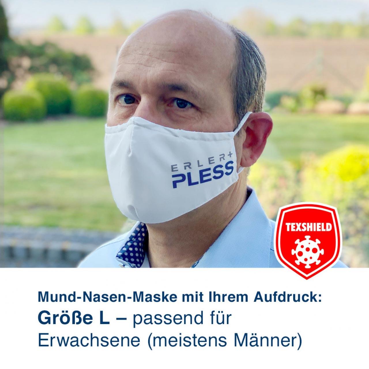 """Mund-Nasen-Maske L """"MyDesign"""" mit Ihrem Aufdruck und antiviraler Beschichtung"""