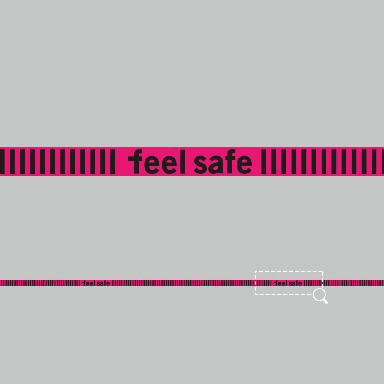 Hochwertige Fußbodenaufkleber mit speziellem Antirutsch Schutzlaminat mit der Beschriftung: