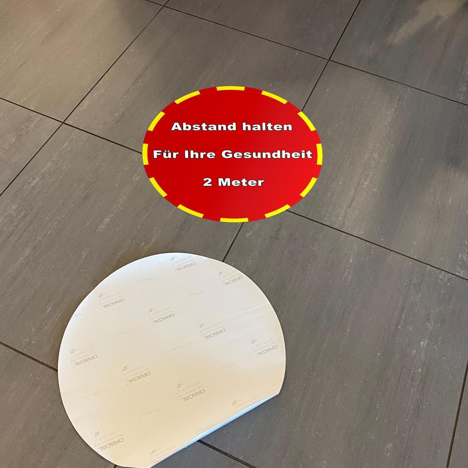 Fußbodenaufkleber, Ø 48cm – STOPP