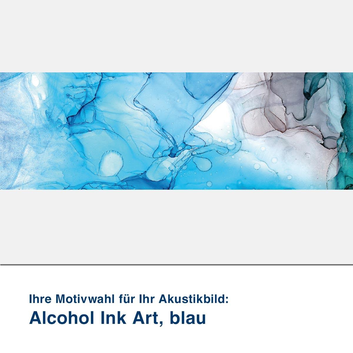 Akustikbild Motiv Alcohol Ink Art, blau