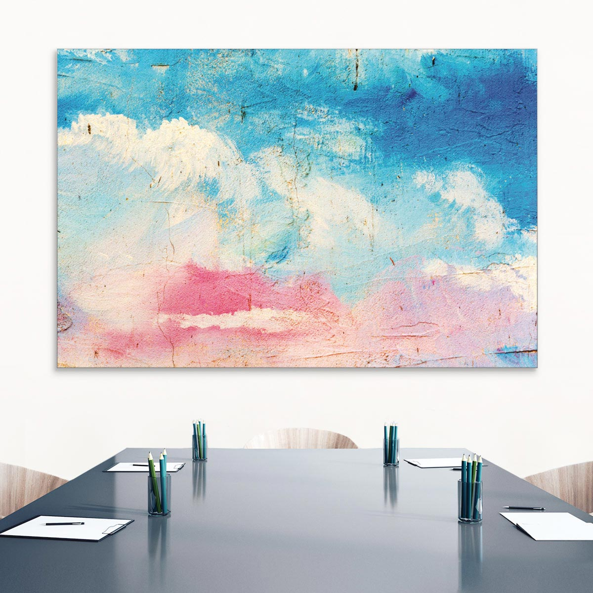 Akustikbild Farbenspiel in Pink und Blau