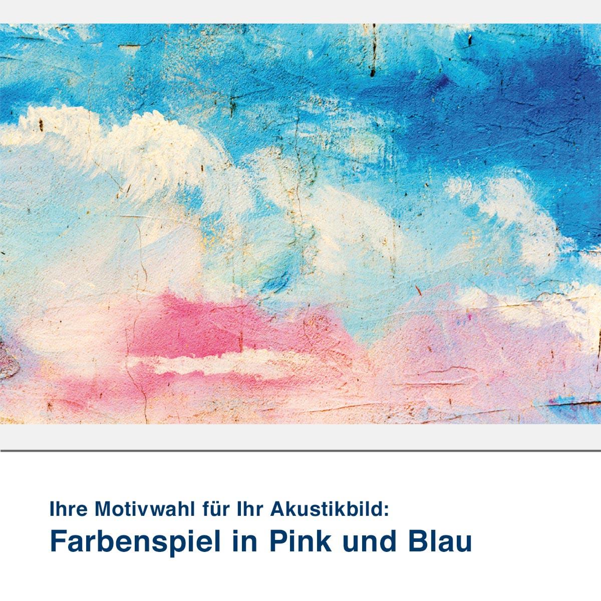 Akustikbild Motiv Farbenspiel in Pink und Blau