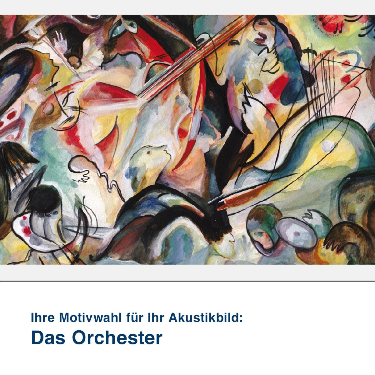 Akustikbild Motiv Das Orchester