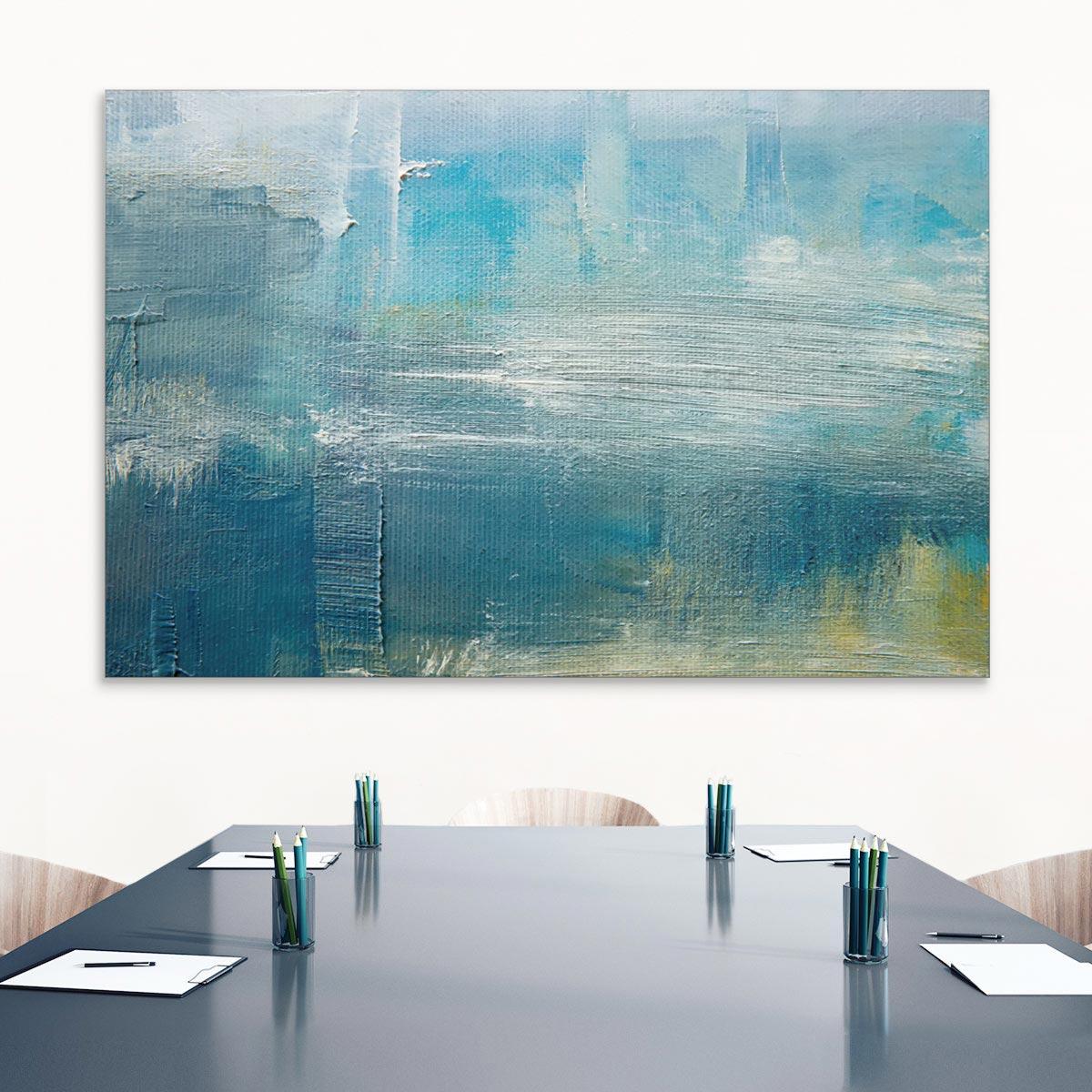 Akustikbild Acrylkomposition in Blau