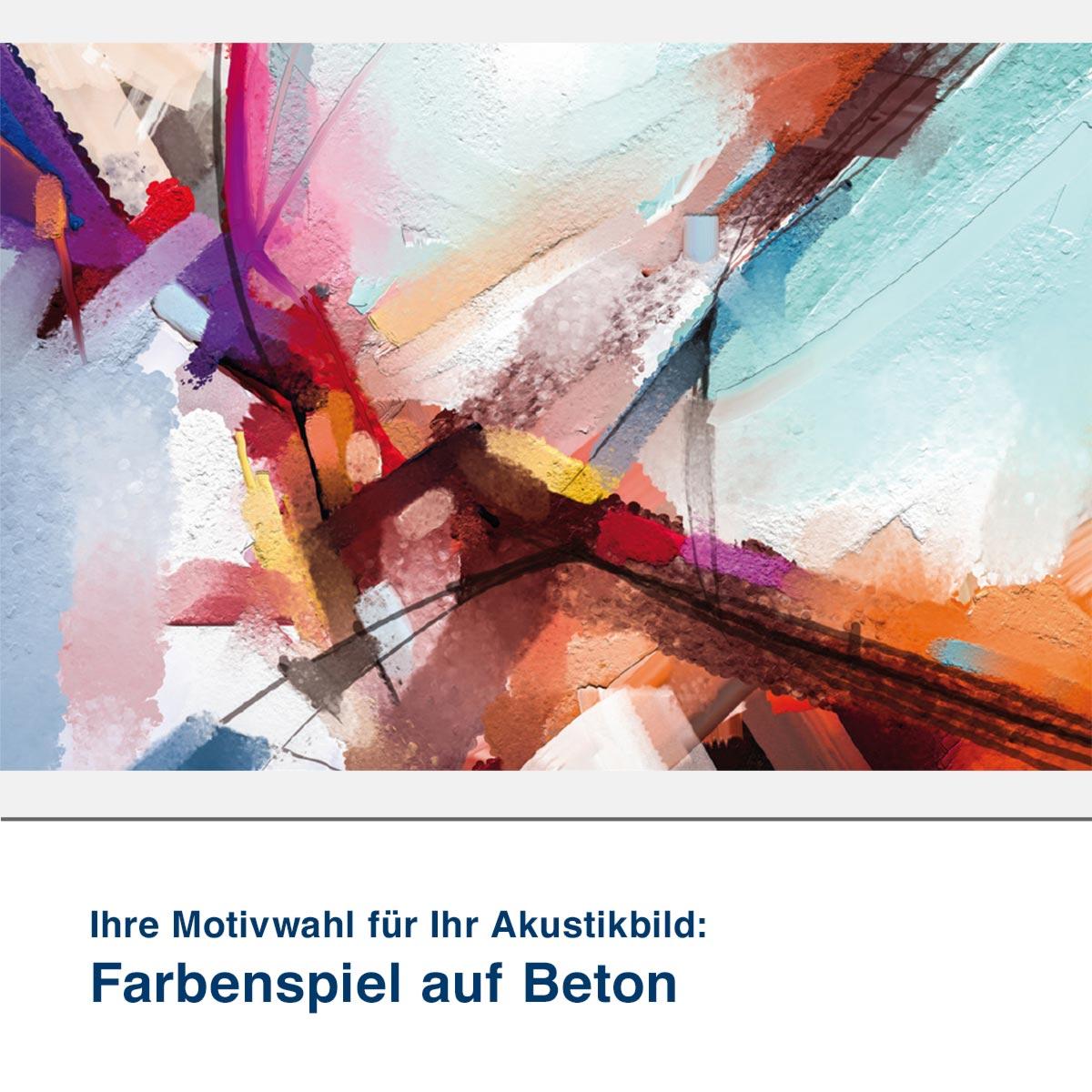 Akustikbild Motiv Farbenspiel auf Beton