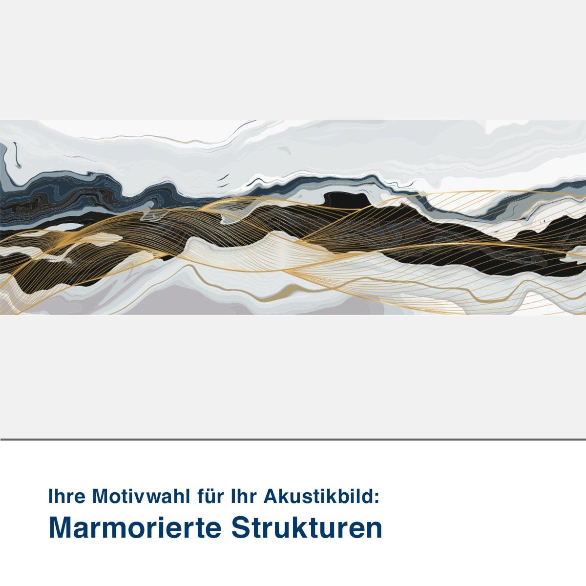 Akustikbild Motiv Marmorierte Strukturen