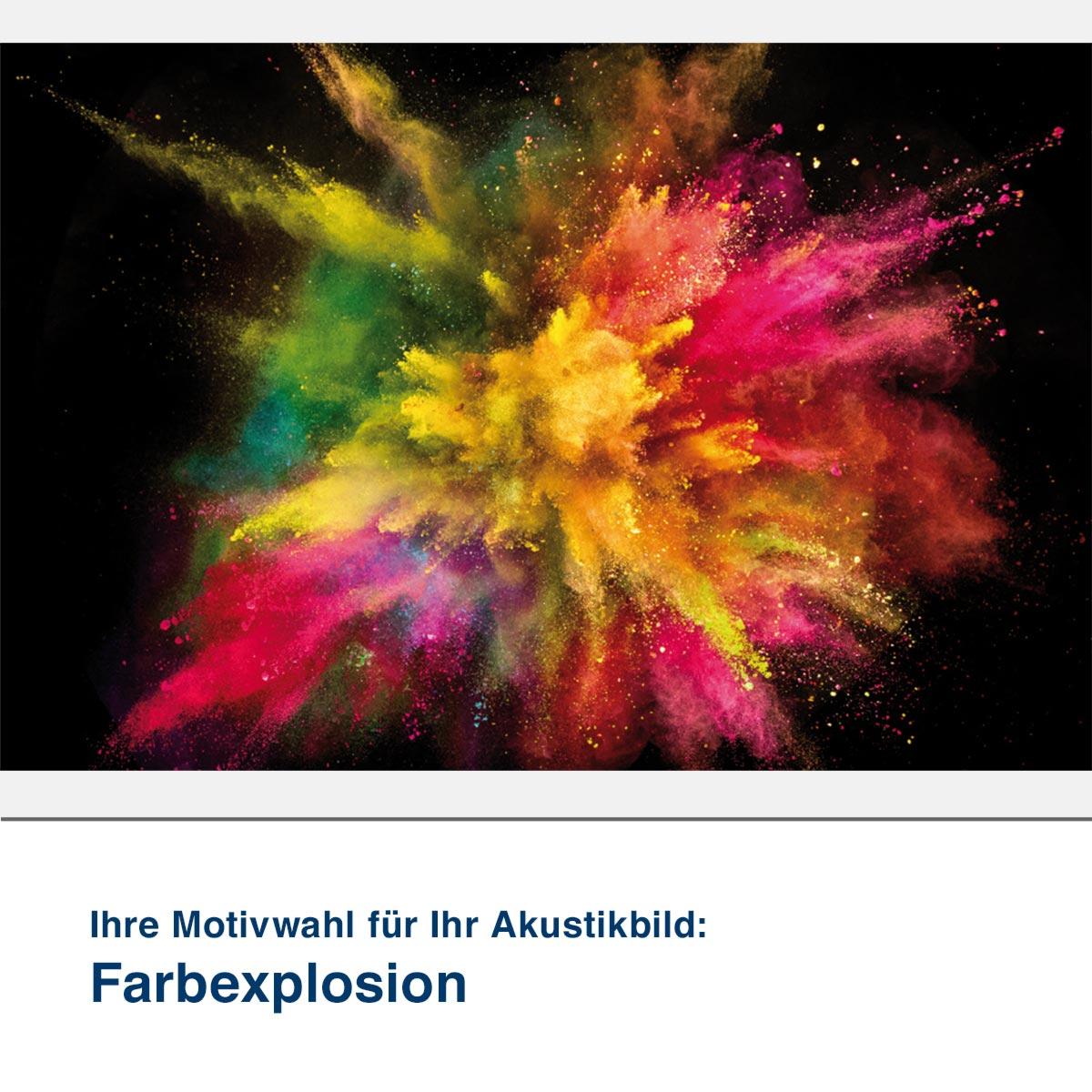 Akustikbild Motiv Farbexplosion
