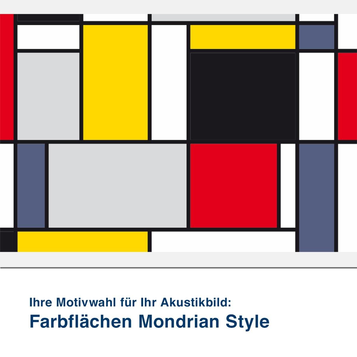 Akustikbild Motiv Farbflächen Mondrian Style