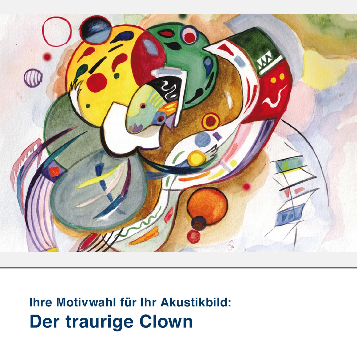 Akustikbild Motiv Der traurige Clown