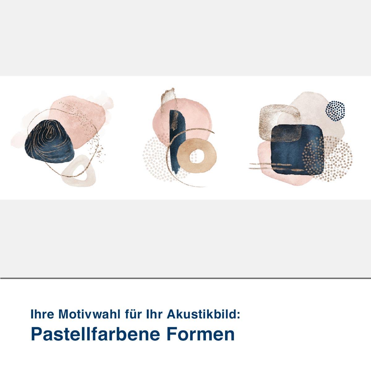 Akustikbild Motiv Pastellfarbene Formen