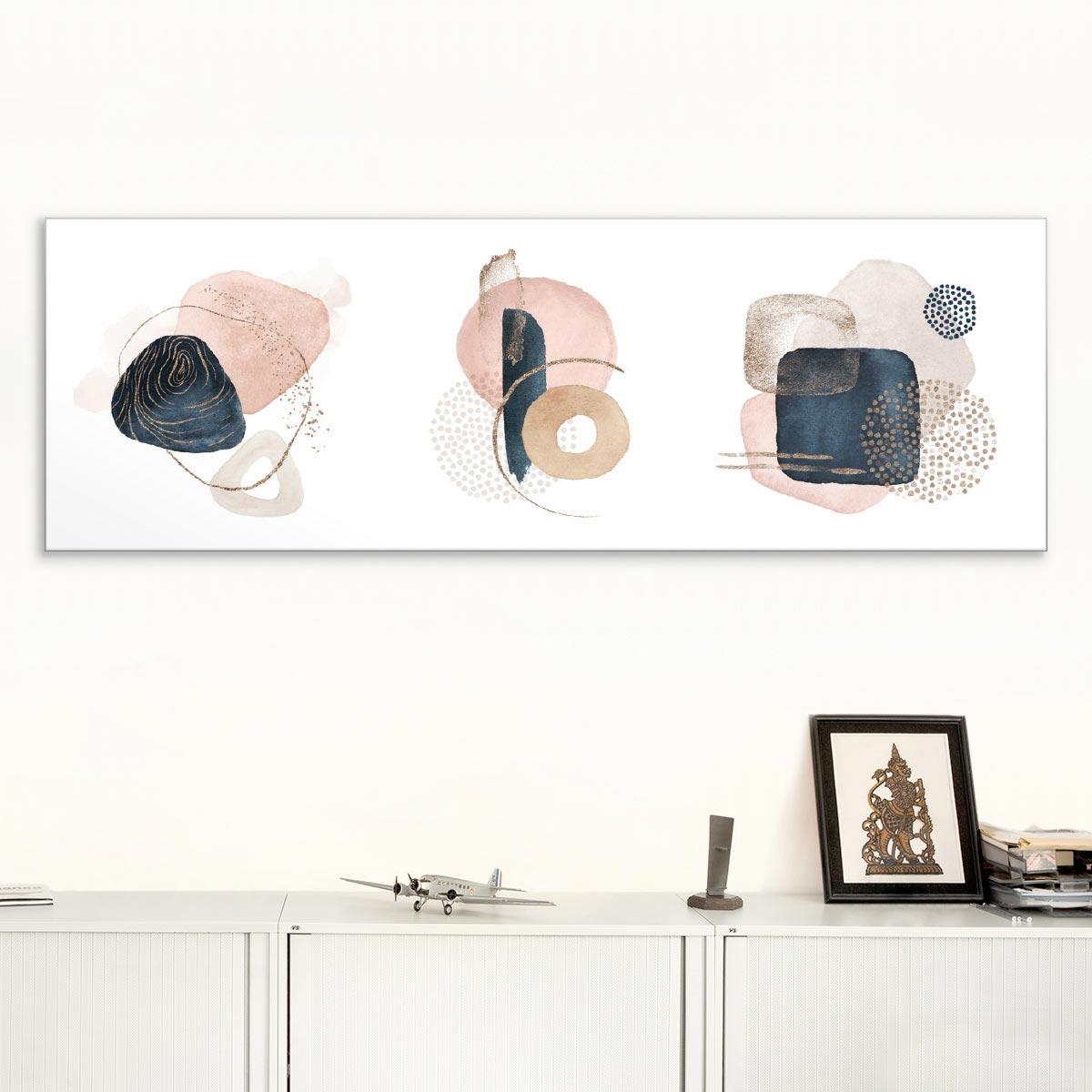 Akustikbild Pastellfarbene Formen
