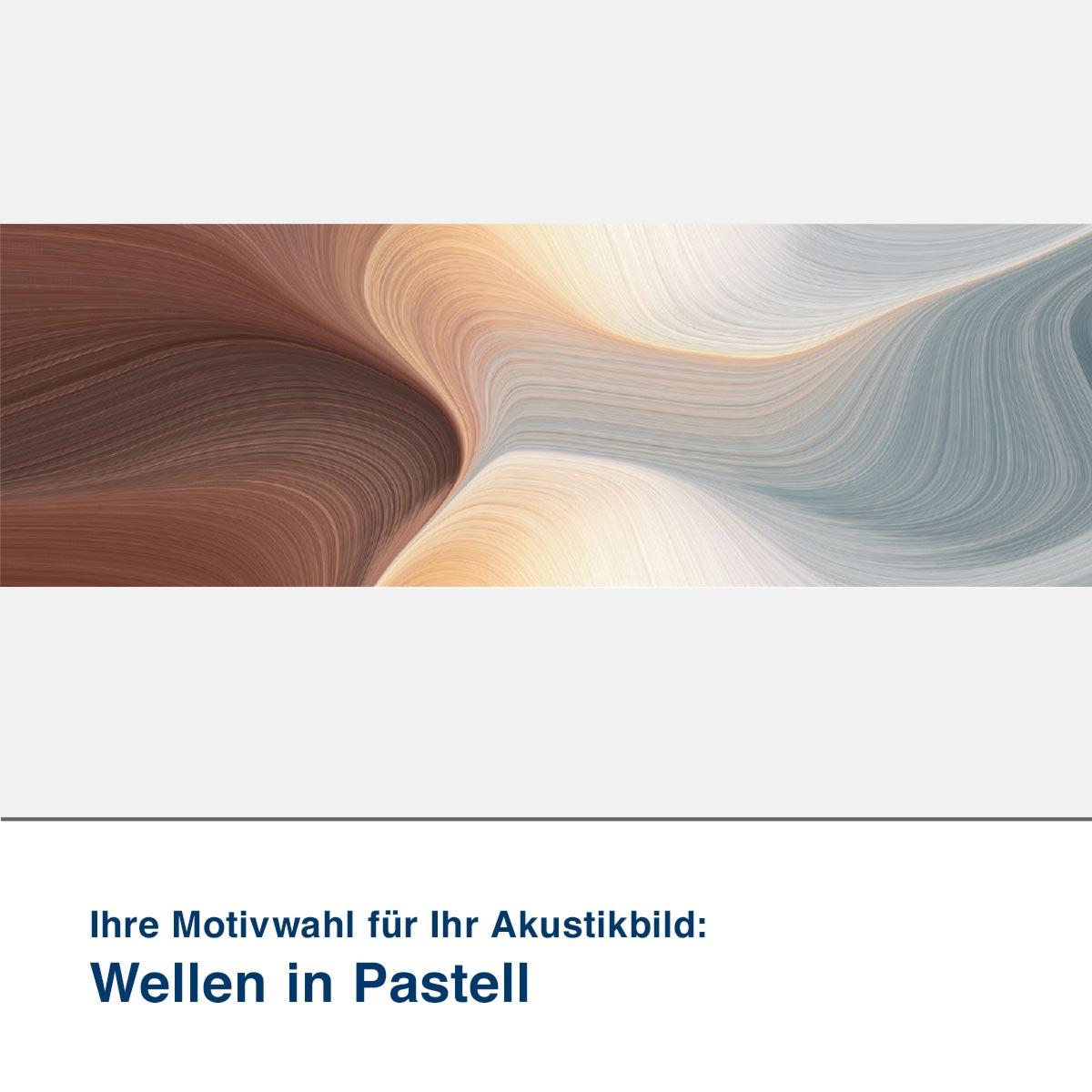 Akustikbild Motiv Wellen in Pastell