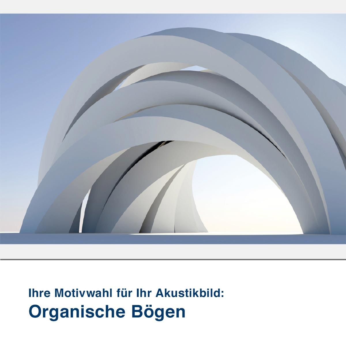 Akustikbild Motiv Organische Bögen
