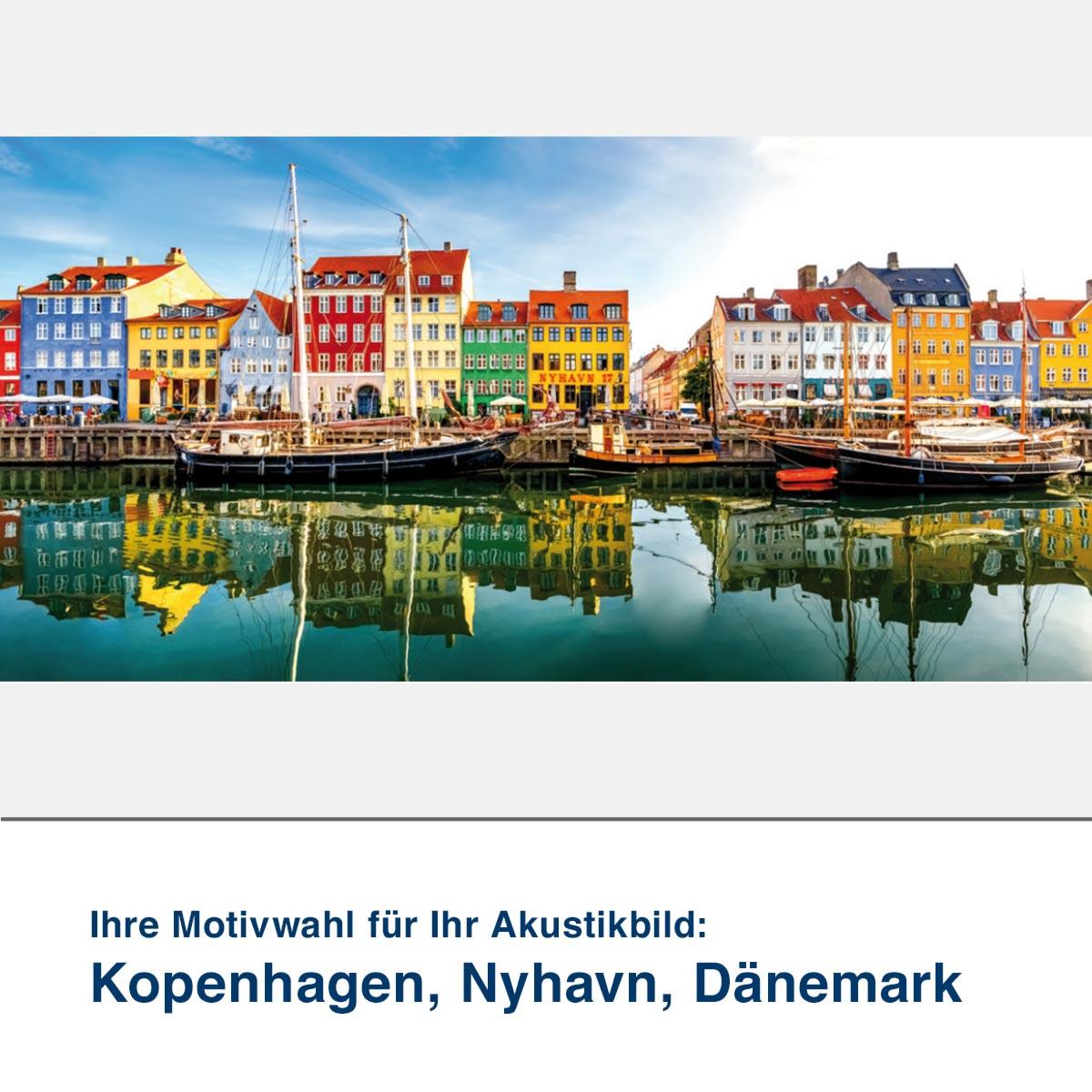 Akustikbild Motiv Kopenhagen, Nyhavn, Dänemark