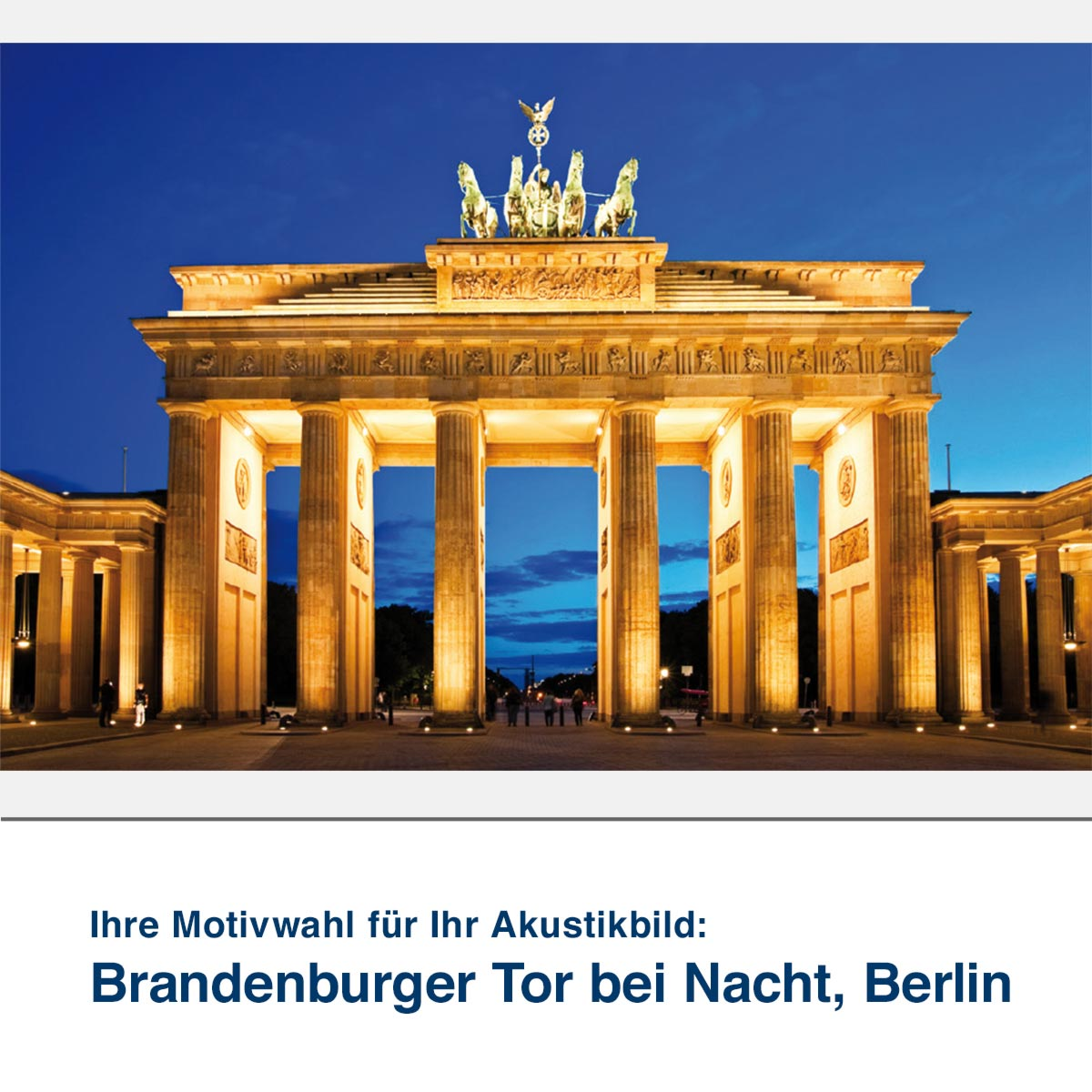 Akustikbild Motiv Brandenburger Tor bei Nacht, Berlin