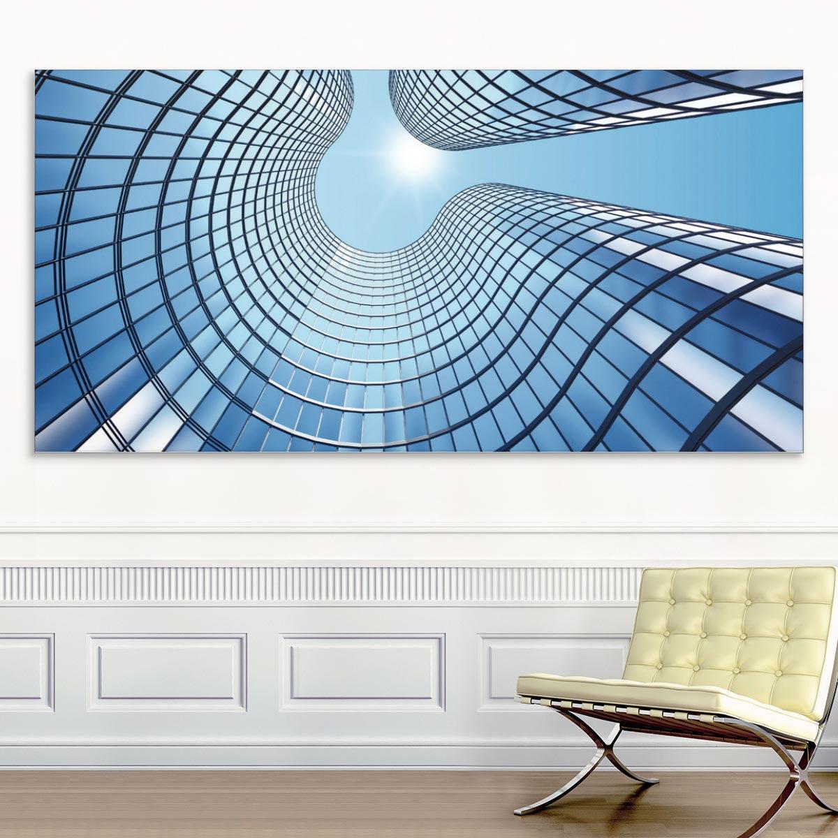 Akustikbild Hufeisenförmige Glasstruktur
