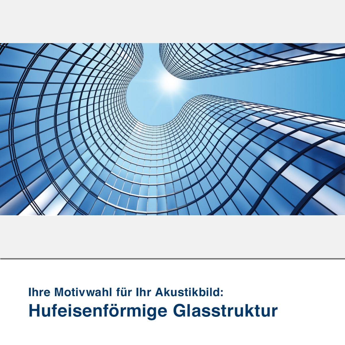 Akustikbild Motiv Hufeisenförmige Glasstruktur