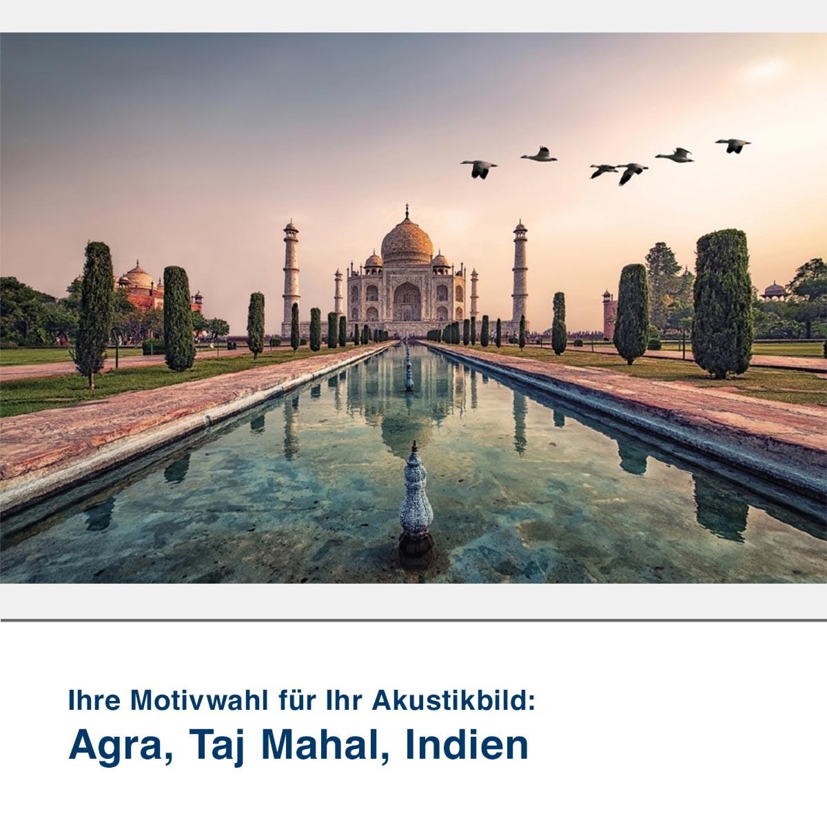 Akustikbild Motiv Agra, Taj Mahal, Indien