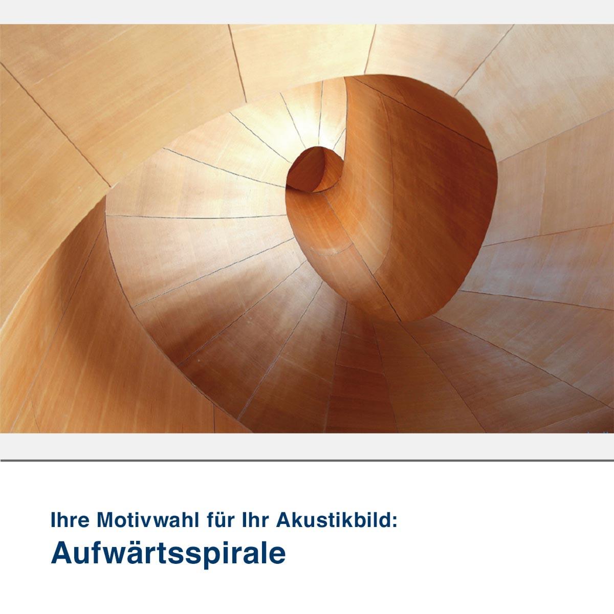 Akustikbild Motiv Aufwärtsspirale