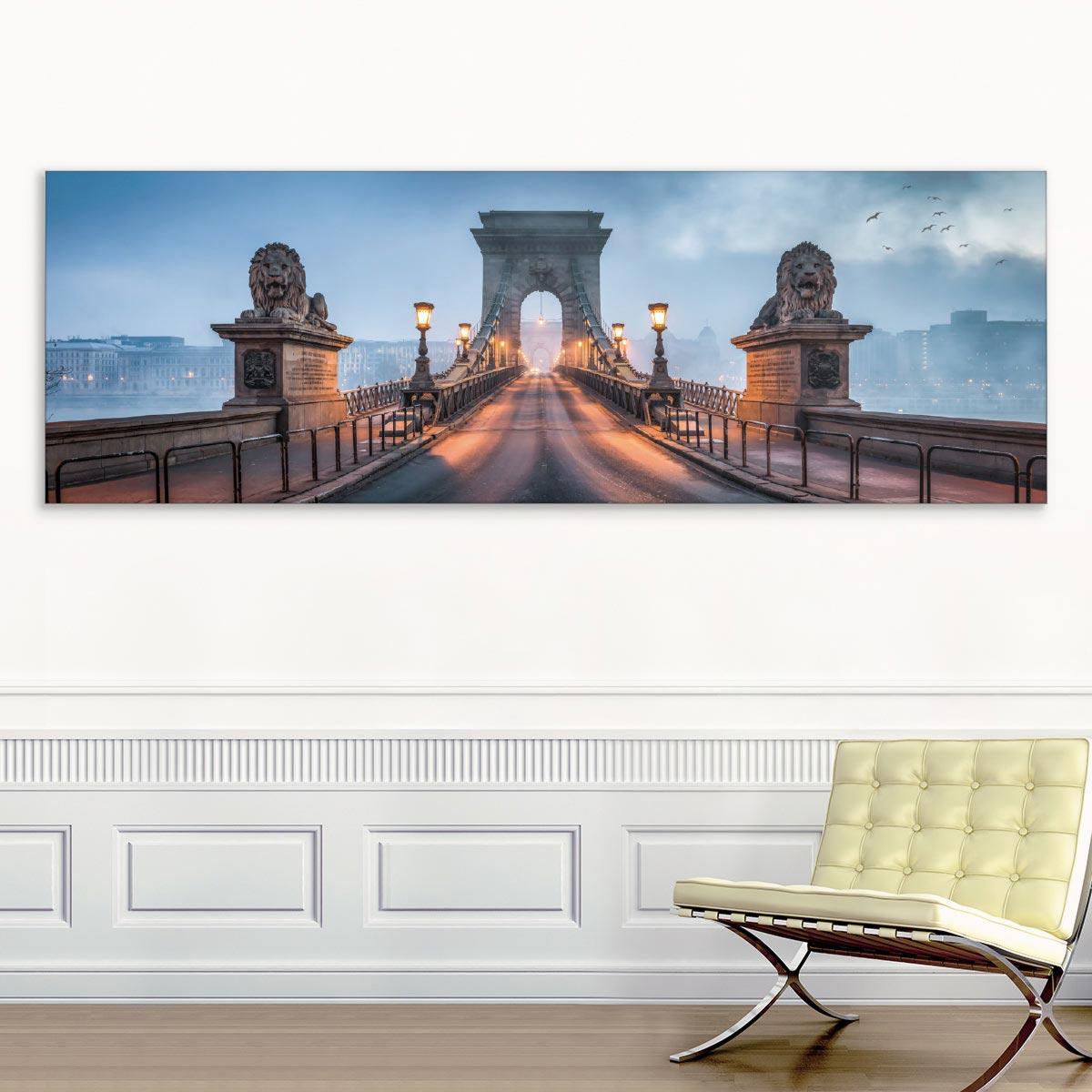 Akustikbild Budapest, Kettenbrücke, Ungarn