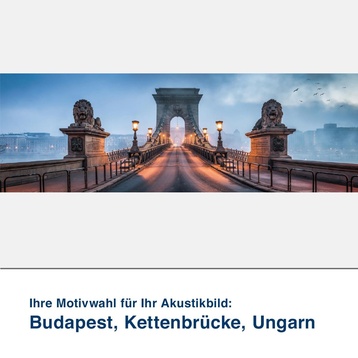Akustikbild Motiv Budapest, Kettenbrücke, Ungarn