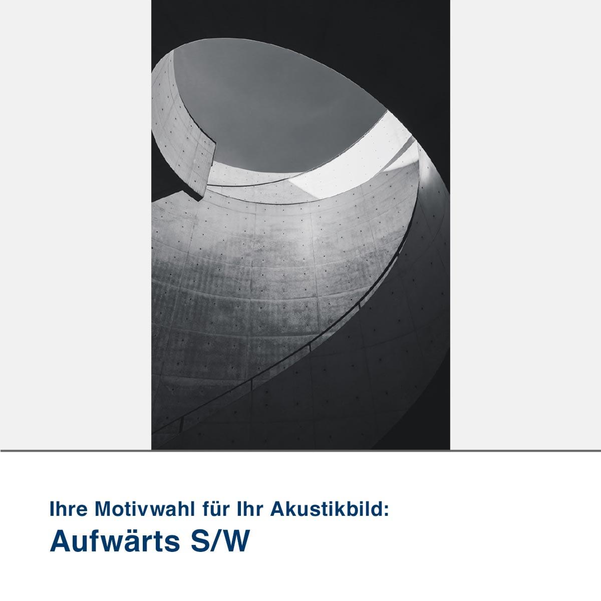 Akustikbild Motiv Aufwärts S/W