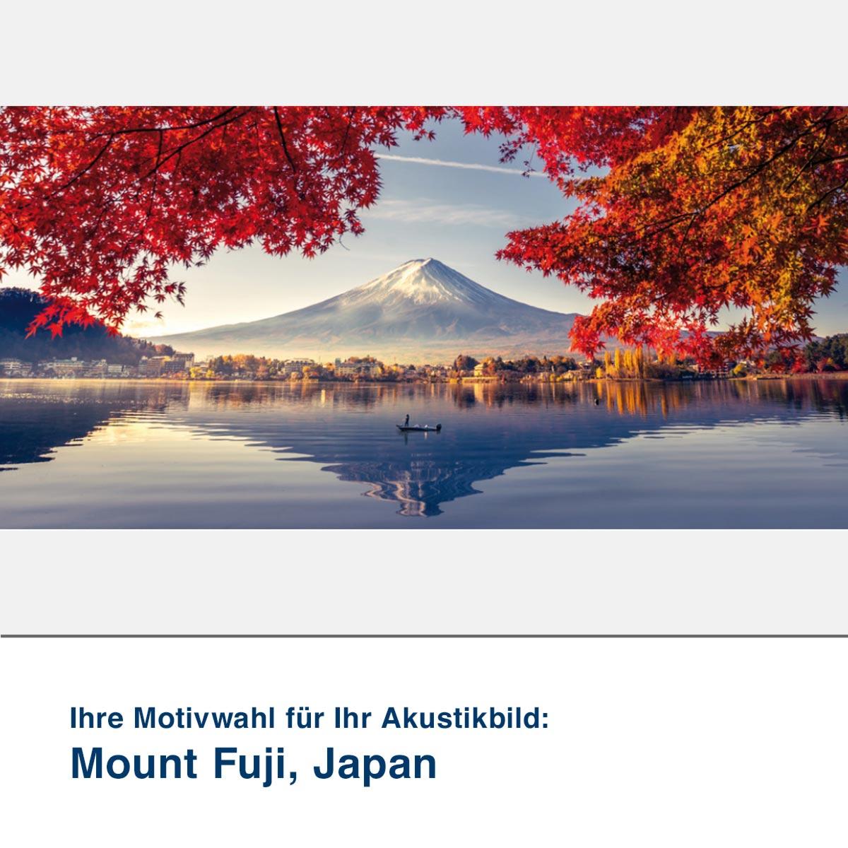 Akustikbild Motiv Mount Fuji, Japan