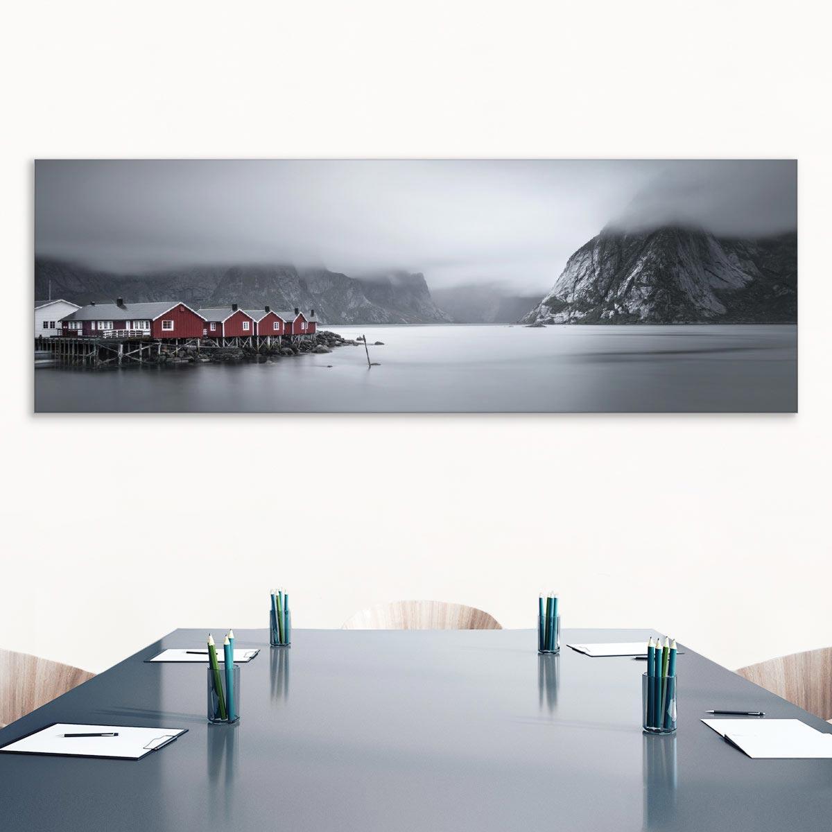 Akustikbild Fjord auf den Lofoten, Norwegen