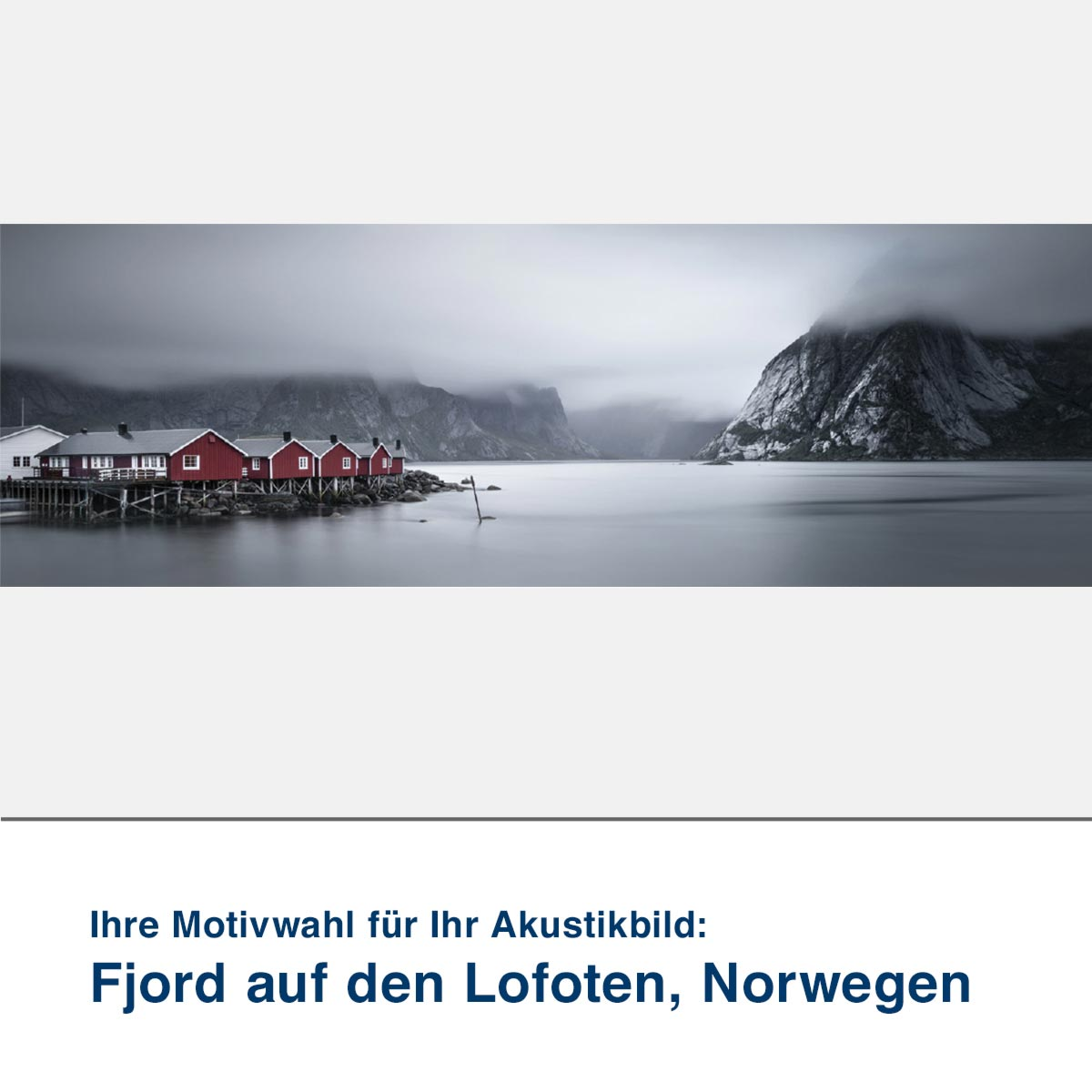Akustikbild Motiv Fjord auf den Lofoten, Norwegen