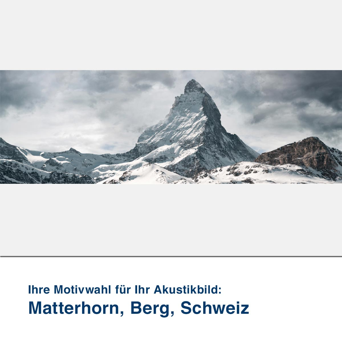 Akustikbild Motiv Matterhorn, Berg, Schweiz