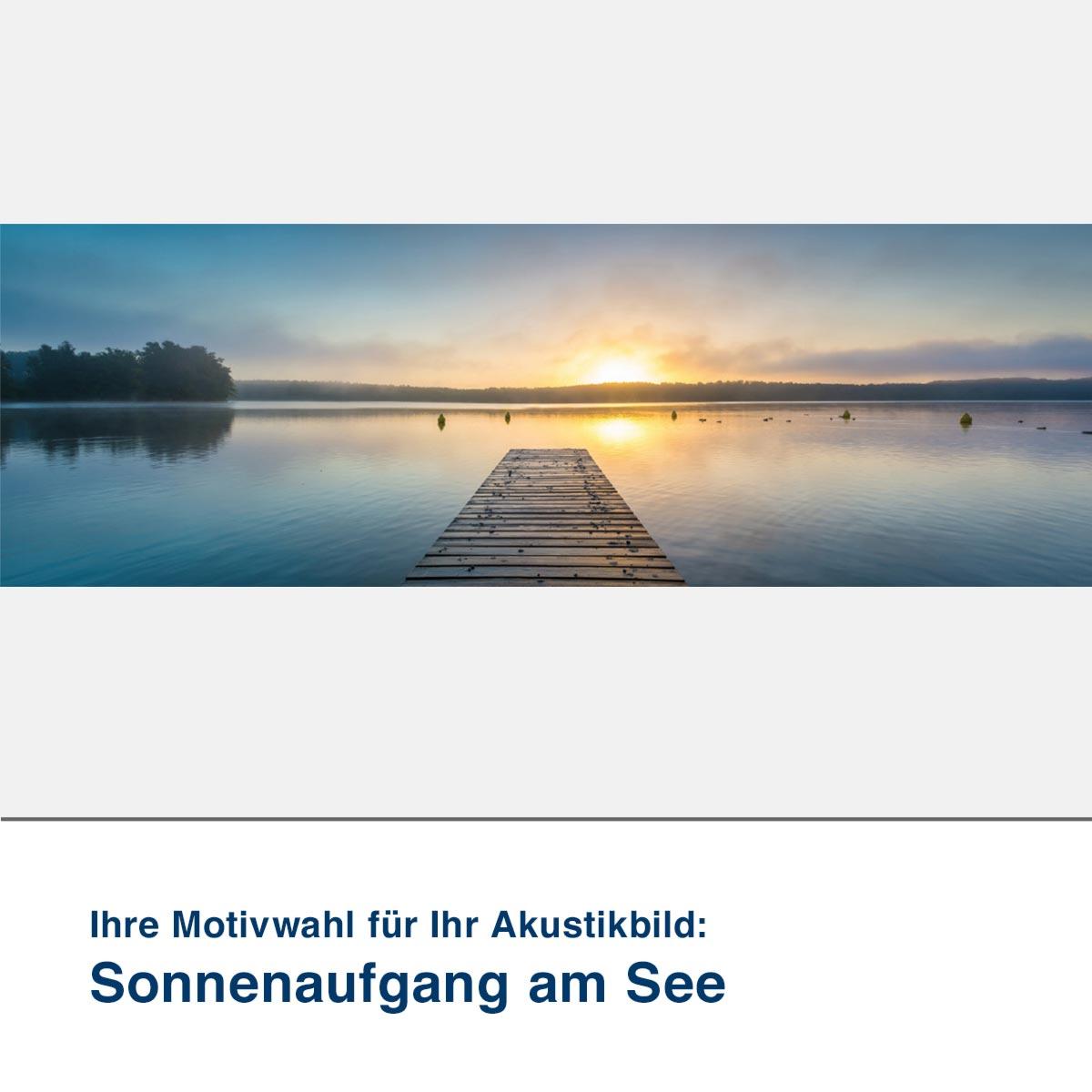 Akustikbild Motiv Sonnenaufgang am See