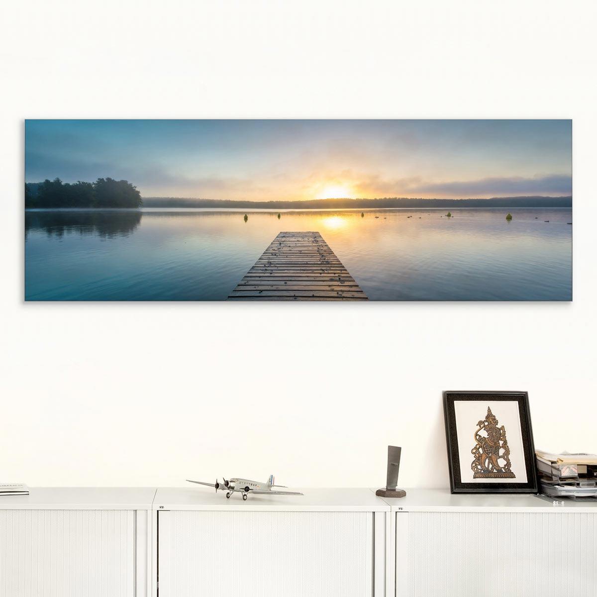 Akustikbild Sonnenaufgang am See