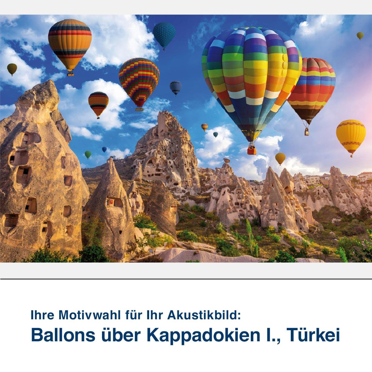 Akustikbild Motiv Ballons über Kappadokien I., Türkei