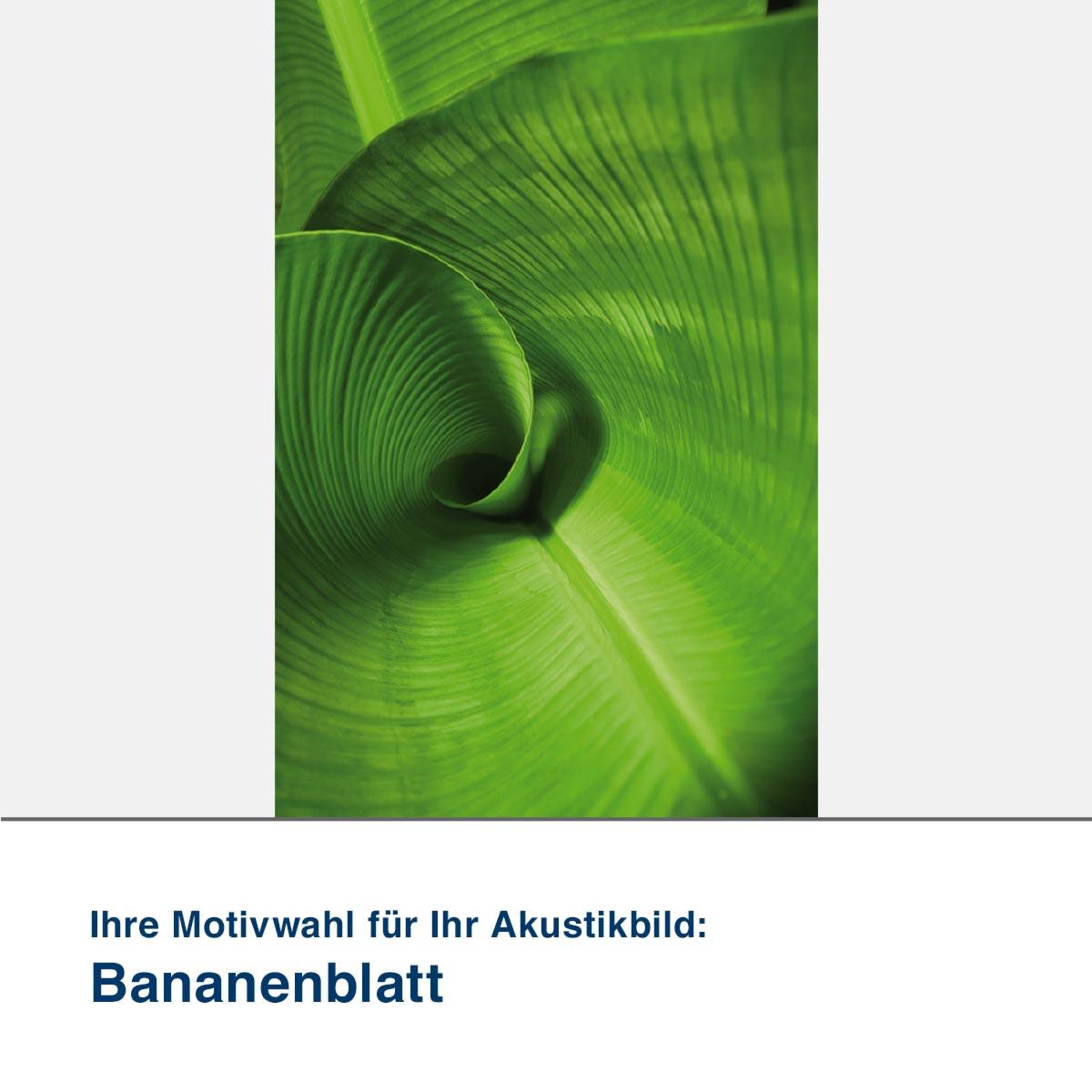 Akustikbild Motiv Bananenblatt